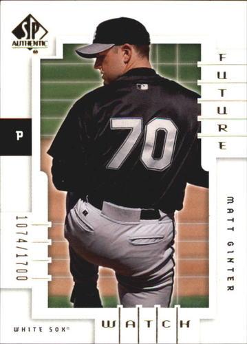 Photo of 2000 SP Authentic #161 Matt Ginter FW RC