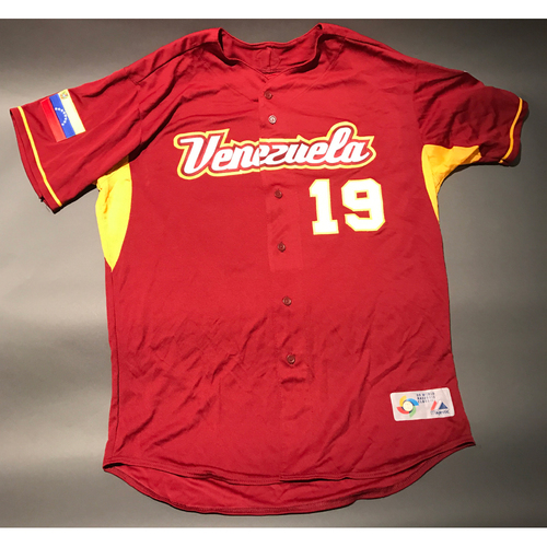 Photo of 2009 World Baseball Classic Jersey - Venezuela Road Jersey, Ramon Hernandez #19