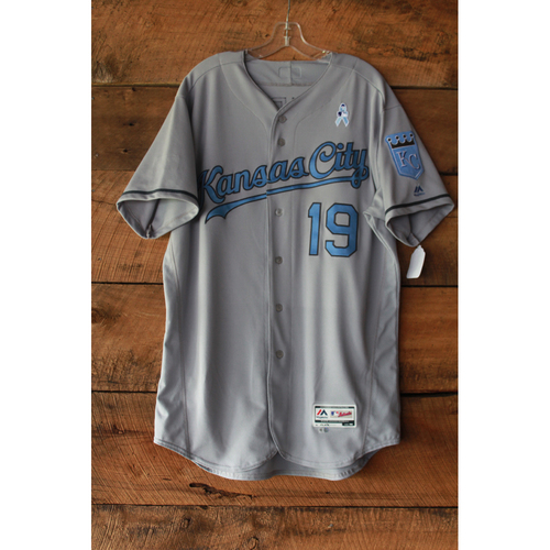 Photo of Cheslor Cuthbert Game-Used Jersey (6/17-18/17 LAA at KC) (Size 48)