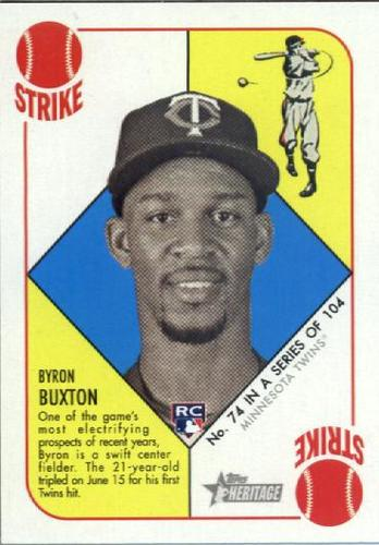 Photo of 2015 Topps Heritage '51 Collection #74 Byron Buxton Rookie Card