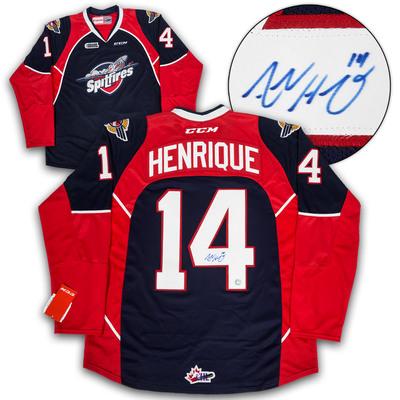 Adam Henrique Windsor Spitfires Autographed CHL CCM Premier Hockey Jersey