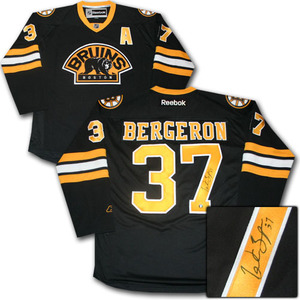 Patrice Bergeron Autographed Boston Bruins Jersey