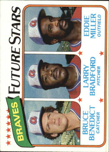 Photo of 1980 Topps #675 Bruce Benedict/Larry Bradford RC/Eddie Miller
