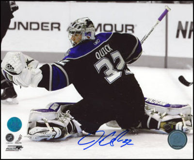 JONATHAN QUICK Los Angeles Kings SIGNED 8x10 Spotlight Photo