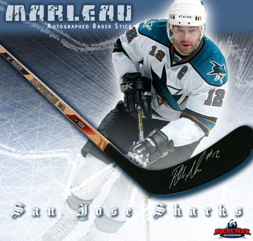 PATRICK MARLEAU Signed Bauer Stick - San Jose Sharks