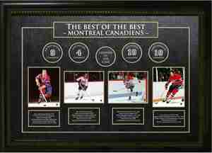 Montreal Canadiens - Framed Best of the Best Collection Etched Mat - Maurice Richard, Jean Beliveau, Guy Lafleur, & Larry Robinson