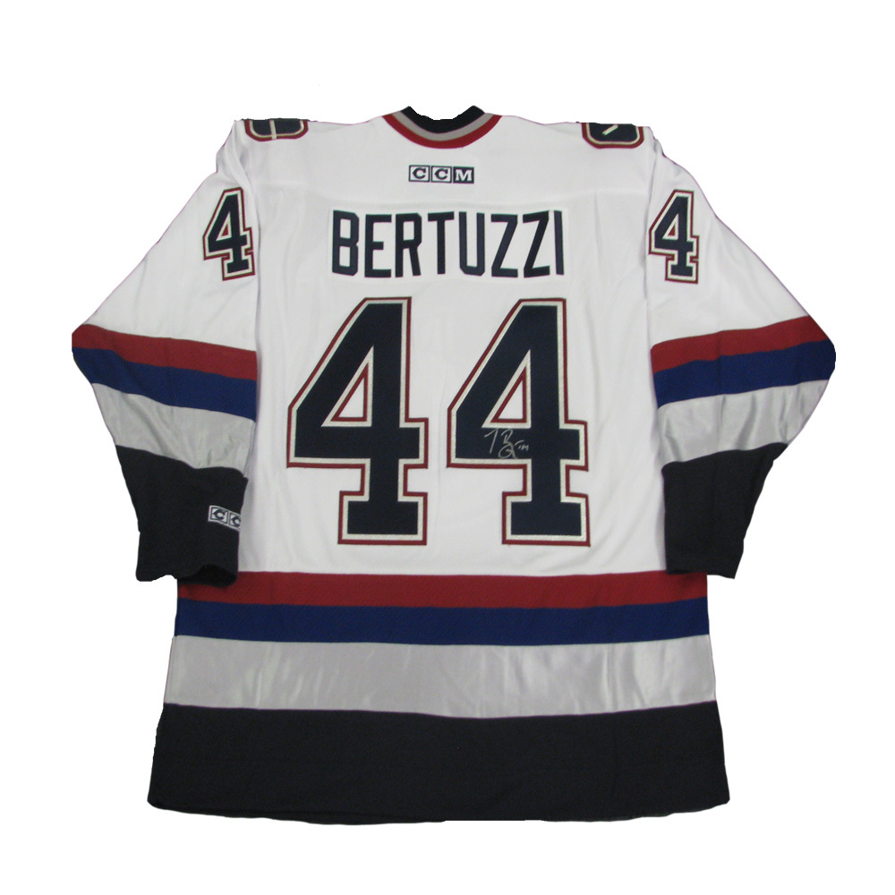 TODD BERTUZZI Signed Vancouver Canucks White CCM Jersey