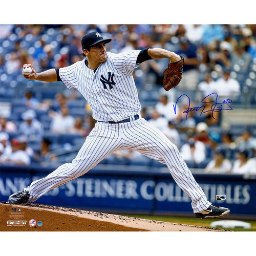 Photo of Nathan Eovaldi Autographed Pitching 16x20 Photo