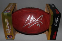 NFL - CARDINALS CALAIS CAMPBELL SIGNED AUTHENTIC FOOTBALL