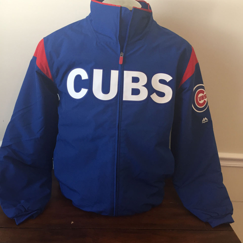 Photo of UMPS CARE AUCTION: Chicago Cubs On-Field Therma Base Thermal Full-Zip Jacket Size Large