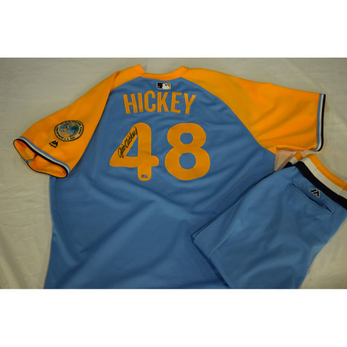 Photo of Game-Used Autographed Turn Back the Clock Jersey and Pants: Jim Hickey