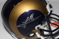NFL - TRE MASON SIGNED RAMS MINI HELMET (SMUDGED SIGNATURE)