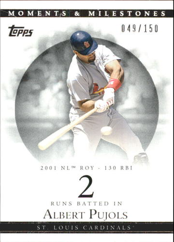 Photo of 2007 Topps Moments and Milestones #2-2 Albert Pujols/RBI 2