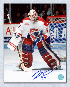 Andre Racicot Montreal Canadiens Autographed Goalie Action 8x10 Photo