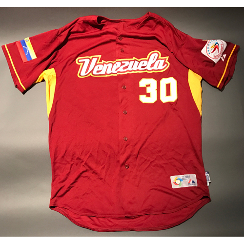 2009 World Baseball Classic Jersey - Venezuela Road Jersey, Ordonez #30