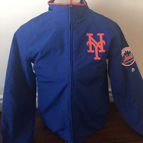 Photo of UMPS CARE AUCTION: New York Mets On-Field Therma Base Thermal Full-Zip Jacket Size Large