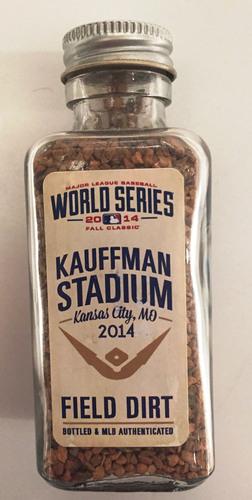 Photo of 2014 World Series Game-Used Dirt Jar - Kauffman Stadium