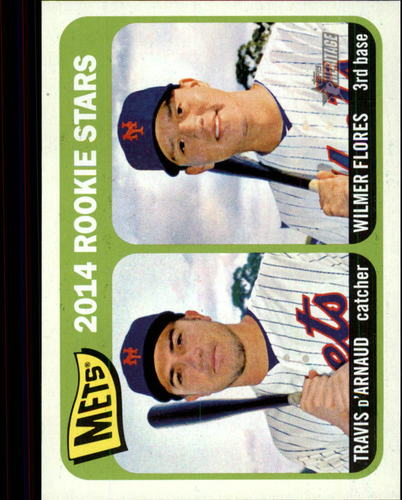 Photo of 2014 Topps Heritage #308 Travis d'Arnaud RC/Wilmer Flores RC