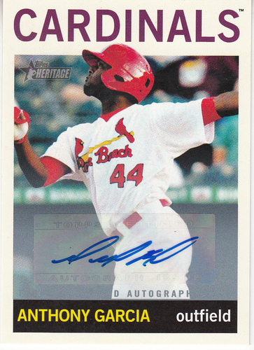 Photo of 2013 Topps Heritage Minors Real One Autographs #AG Anthony Garcia