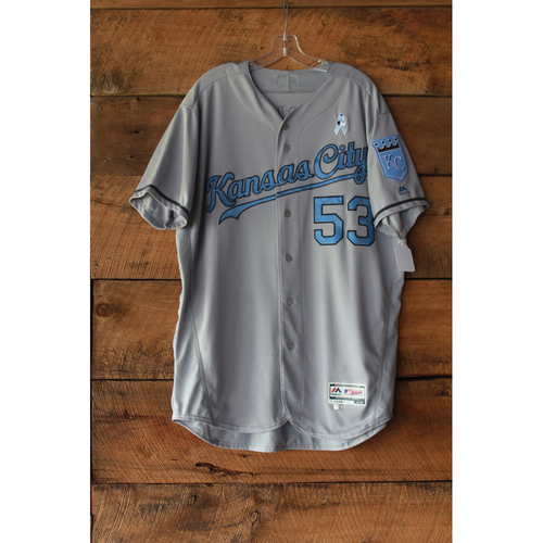 Photo of Eric Skoglund Game-Used Jersey (6/17-18/17 LAA at KC) (Size 48)