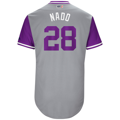 "Photo of Nolan ""Nado"" Arenado Colorado Rockies Game-Used Players Weekend Jersey"