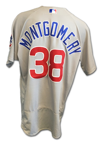 Mike Montgomery Game-Used Jersey -- Cubs Clinch 2017 NL Central Division -- Cubs at Cardinals -- 9/27/17