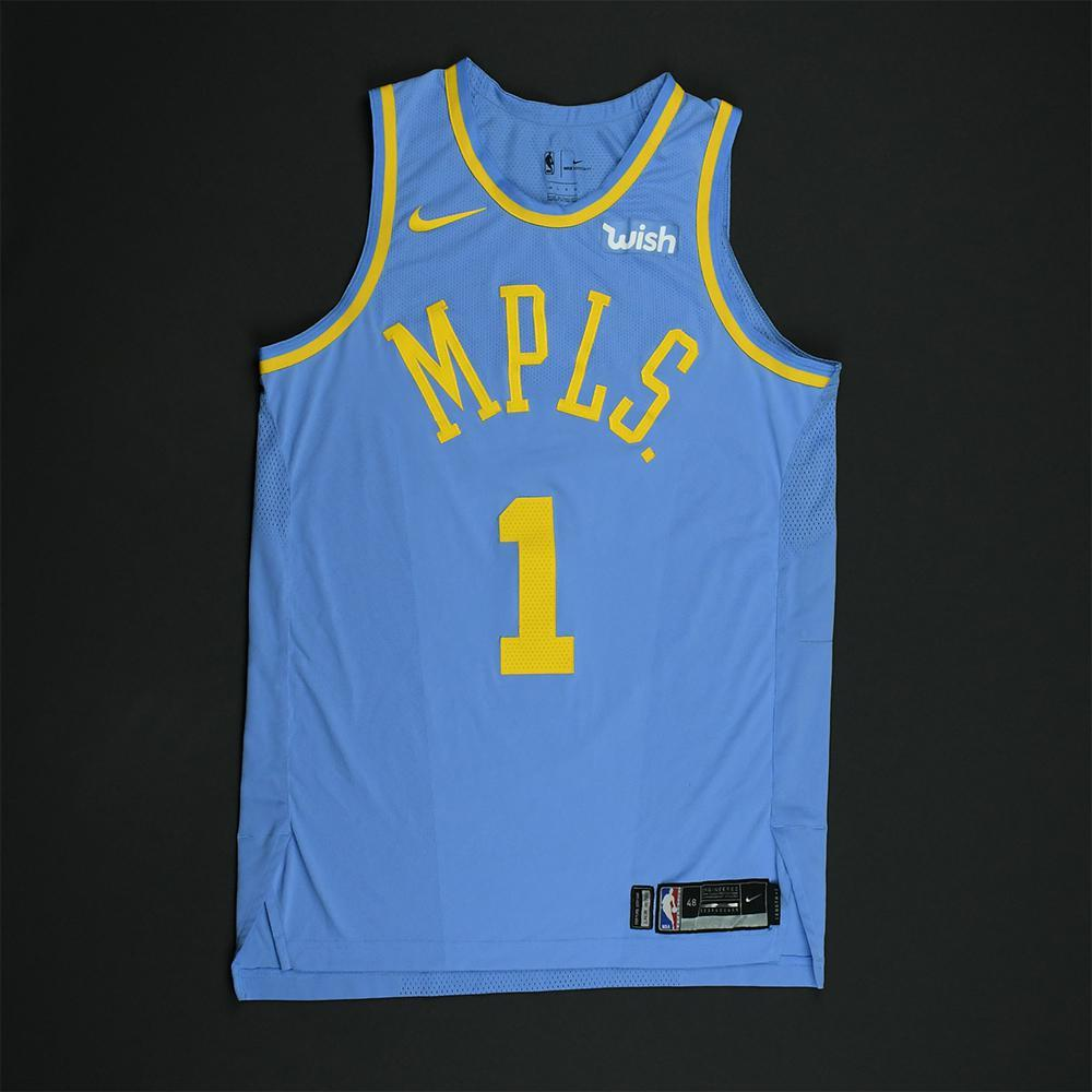 Kentavious Caldwell-Pope - Los Angeles Lakers - Game-Worn Classic Edition Minneapolis Lakers 1948-52 Road Jersey - 2017-18 Season