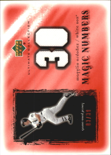 Photo of 2001 Ultimate Collection Magic Numbers Game Jersey Red #MNMO Magglio Ordonez