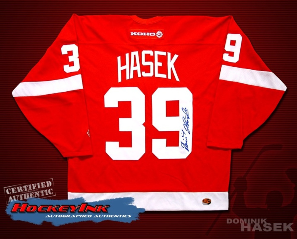 DOMINIK HASEK Signed Red Detroit Red Wings Jersey