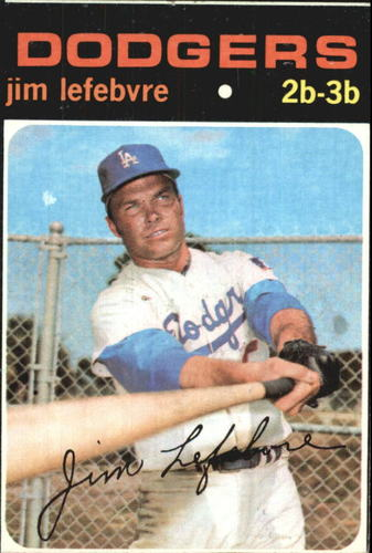 Photo of 1971 Topps #459 Jim Lefebvre