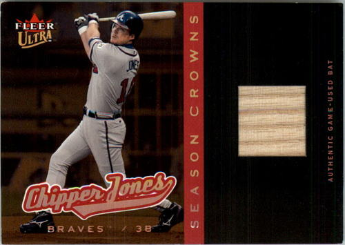Photo of 2005 Ultra Season Crowns Game Used Copper #94 Chipper Jones Bat
