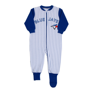 Toronto Blue Jays Infant Pinstipe Convert Foot Sleeper by Snugabye