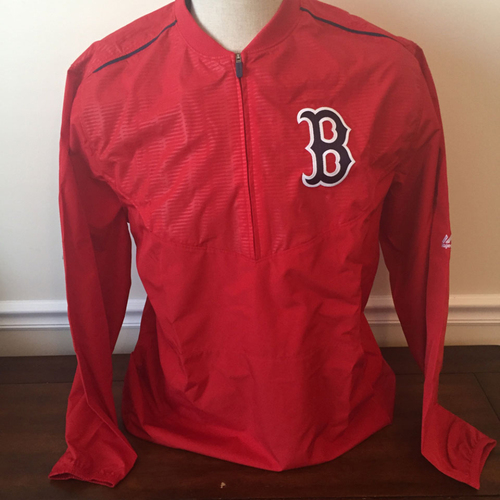 Photo of UMPS CARE AUCTION: Boston Red Sox Majestic Wind Jacket Size Large