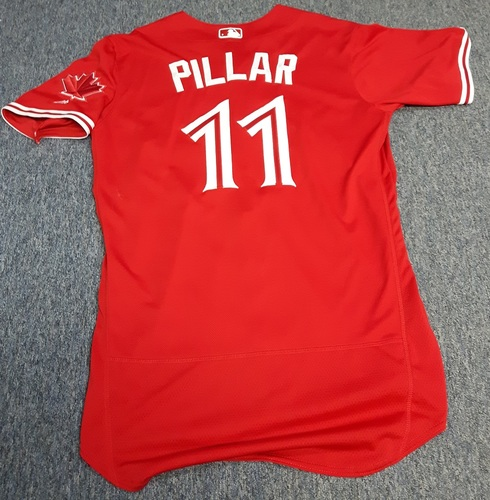 Photo of Authenticated Game Used Jersey - #11 Kevin Pillar (July 30, 2017: 2-for-4 with 1 HR and 2 RBIs). Size 44.