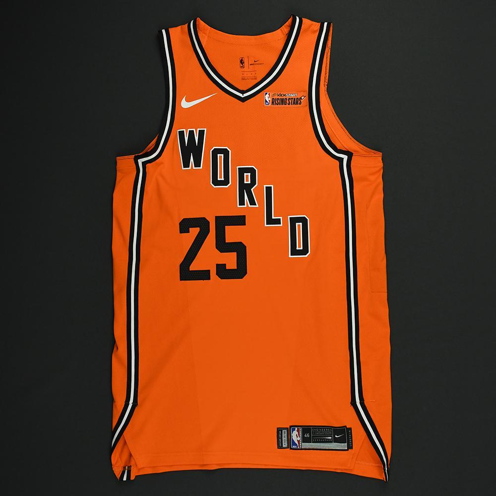 Ben Simmons - 2018 Mtn Dew Kickstart Rising Stars - Team World - Game-Worn Jersey - 1st Half Only - Double-Double