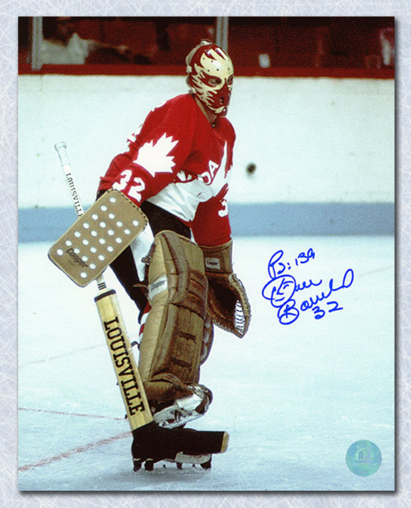 Dan Bouchard Team Canada Autographed 1976 Cup Canada Goalie 8x10 Photo