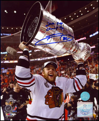KRIS VERSTEEG Chicago SIGNED 2010 CUP CHAMPS 8x10 Photo