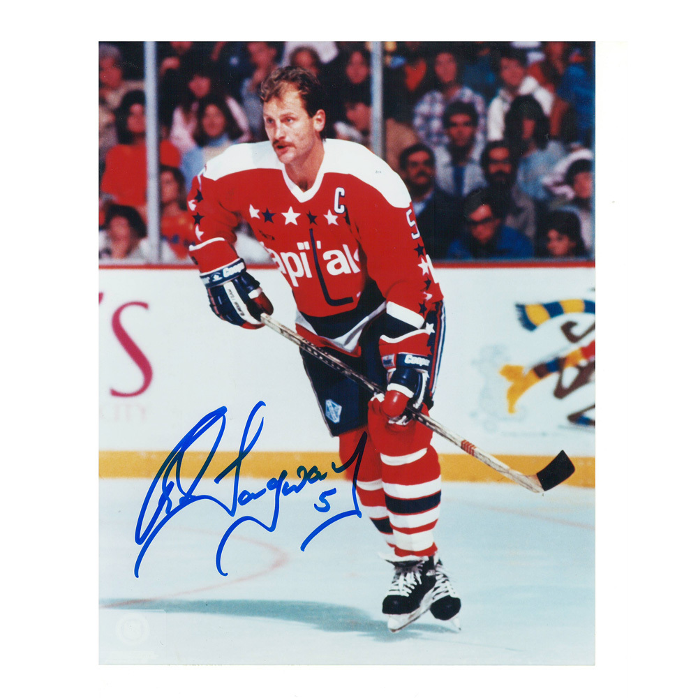 ROD LANGWAY Signed Retro Washington Capitals 8 X 10 Photo - 70096