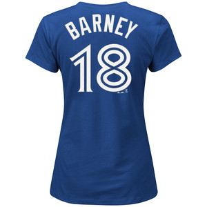 Women's Darwin Barney Player T-Shirt by Majestic