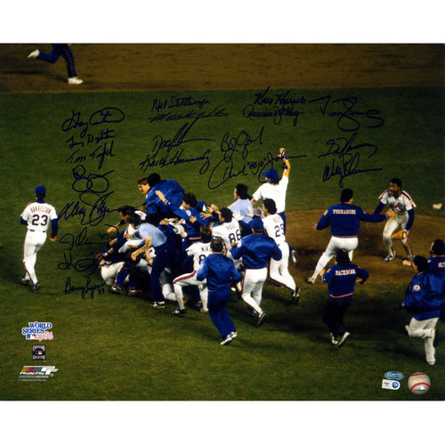 Photo of 1986 Mets Multi-Signed Team Celebration 16x20 Photo w/ Gary Carter