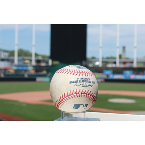 Photo of Game-Used Baseball: Miguel Sano Single (MIN @ KC 7/2/17)