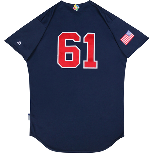 2017 WBC: USA Game-Used Batting Practice Jersey, Tom Brookens #61