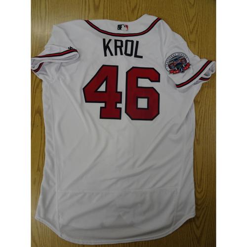 Photo of Ian Krol Game-Used Los Bravos Jersey - Worn 9/17/17 at SunTrust Park