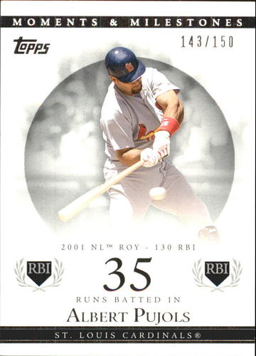 Photo of 2007 Topps Moments and Milestones #2-35 Albert Pujols/RBI 35
