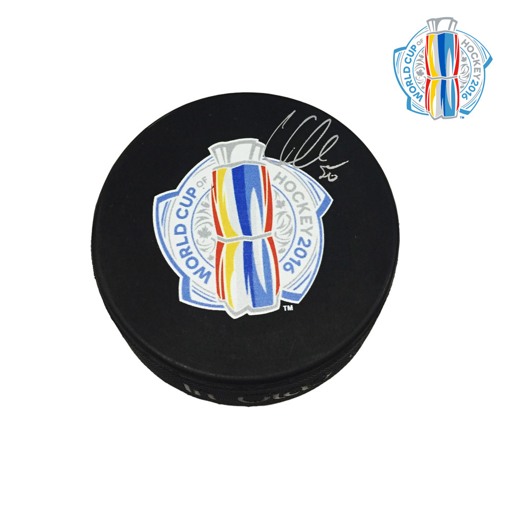 COREY CRAWFORD Signed World Cup of Hockey Puck - Chicago Blackhawks