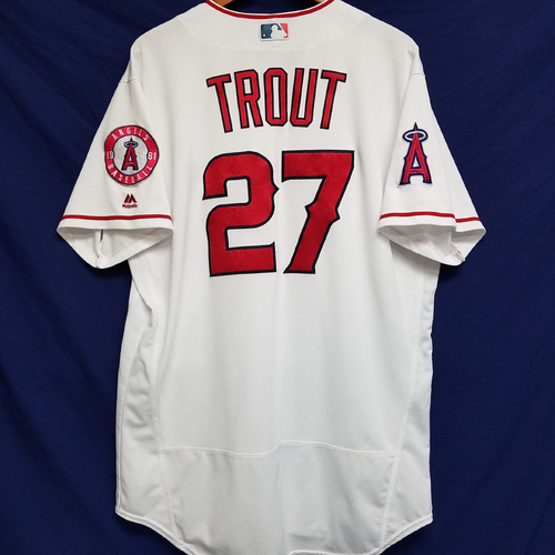 Photo of Mike Trout Team-Issued 2016 Home Jersey