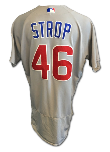 Pedro Strop Game-Used Jersey -- Strop 1 IP, 2 K -- Cubs Clinch 2017 NL Central Division -- Cubs at Cardinals -- 9/27/17
