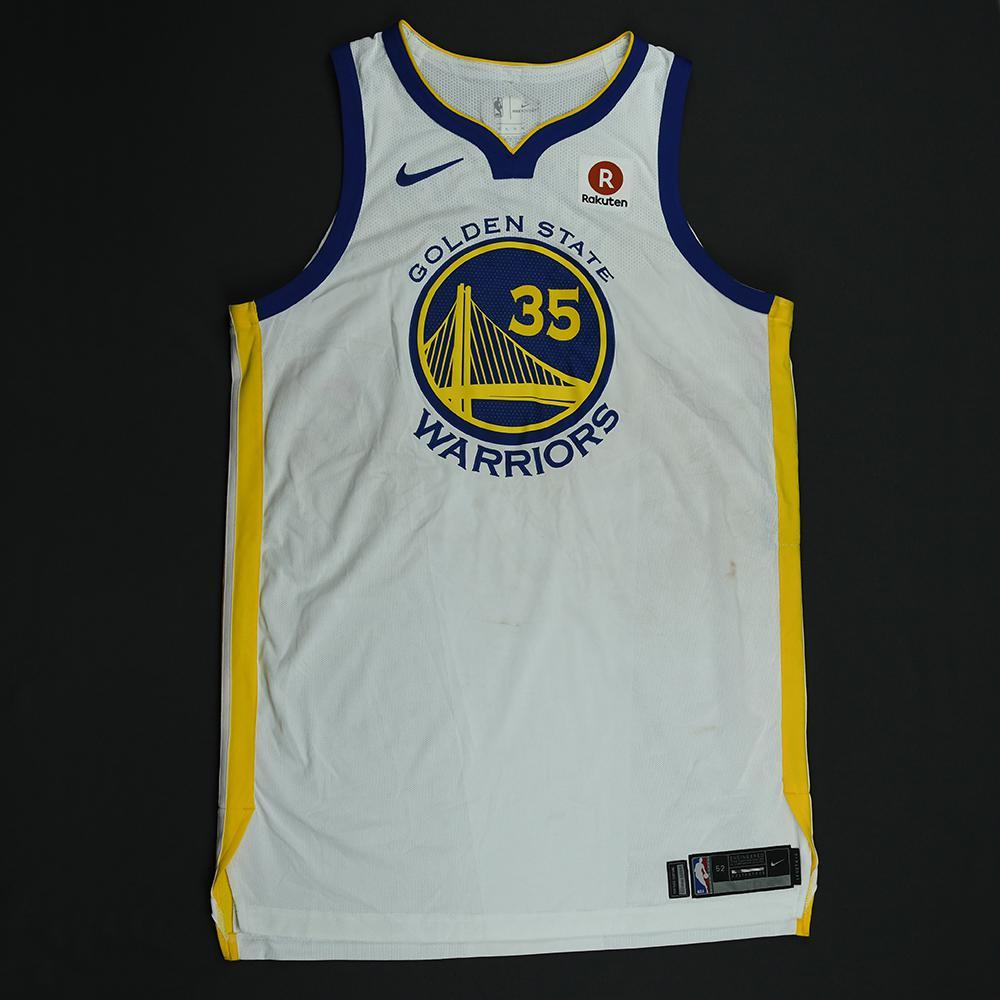Kevin Durant - Golden State Warriors - 2018 NBA Finals - Game 1 - Game-Worn White Jersey