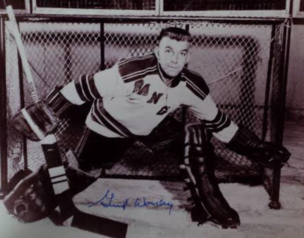 Gump Worsley deceased autographed New York Rangers 8x10 Photo
