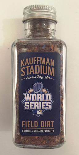 Photo of 2015 World Series Game-Used Dirt Jar - Kauffman Stadium Game 2